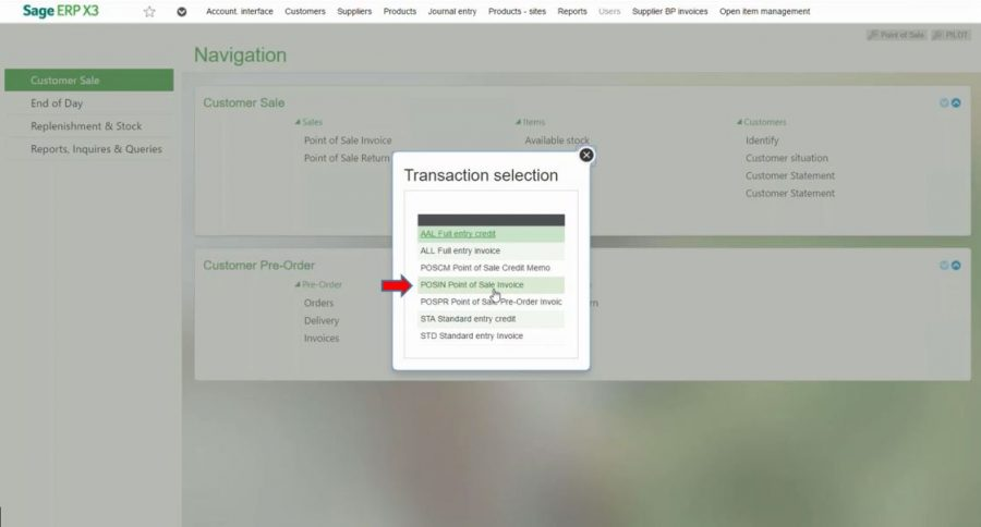 How to Create a Point of Sale Invoice  Process Payment - Sage X3