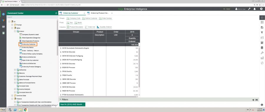 How to Create Reports for Dashboards in Sage Enterprise Intelligence