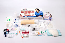 Venipuncture practice kit and course