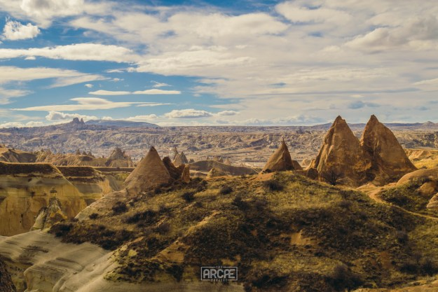A view of Göreme from Aktepe Hill