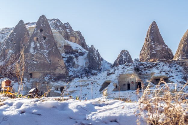 Fairy Chimneys covered by snow