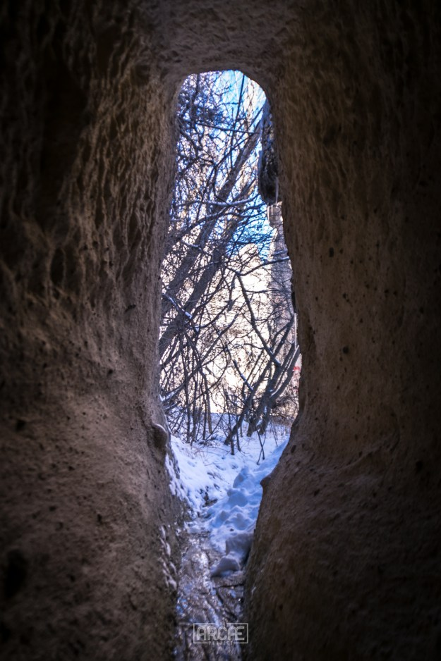 The entrance to one of the tunnels I found