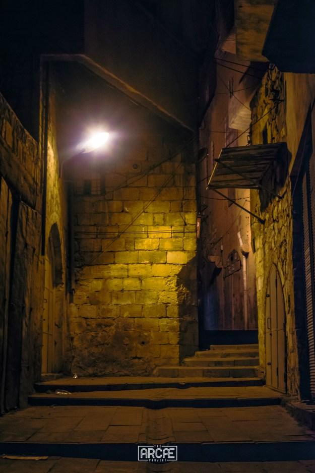 Mardin's alleys at night