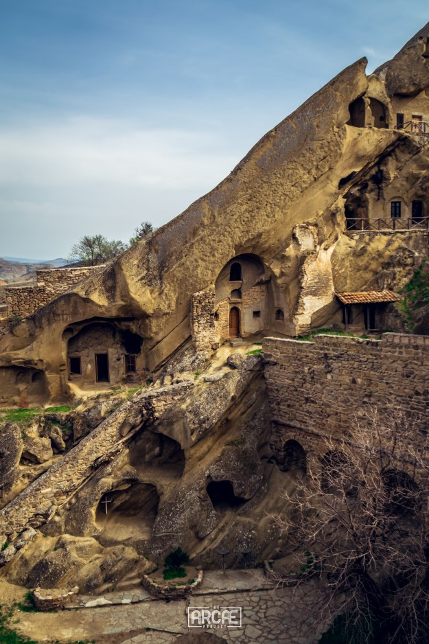 The monastery carved into the rock