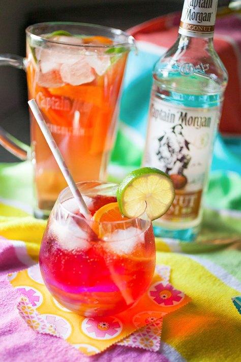 Key Lime Cherry Coconut Fizz Cocktail