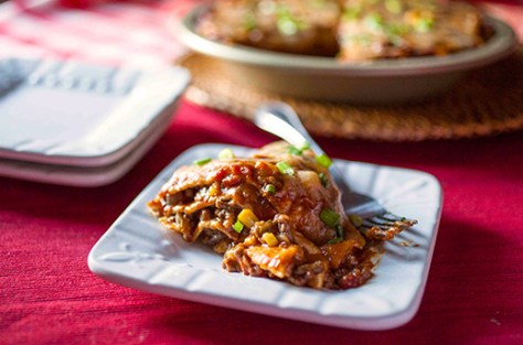 Beef Enchilada Tortilla Casserole