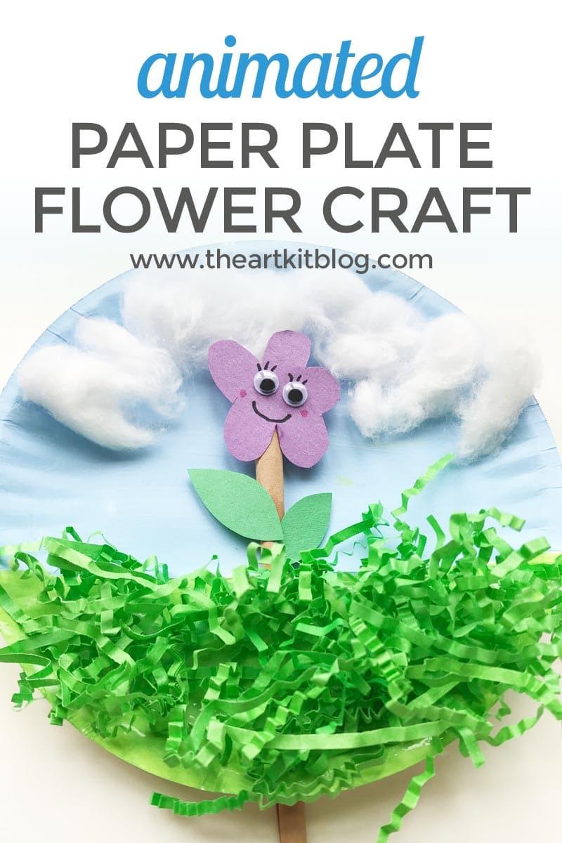 paper plate flower