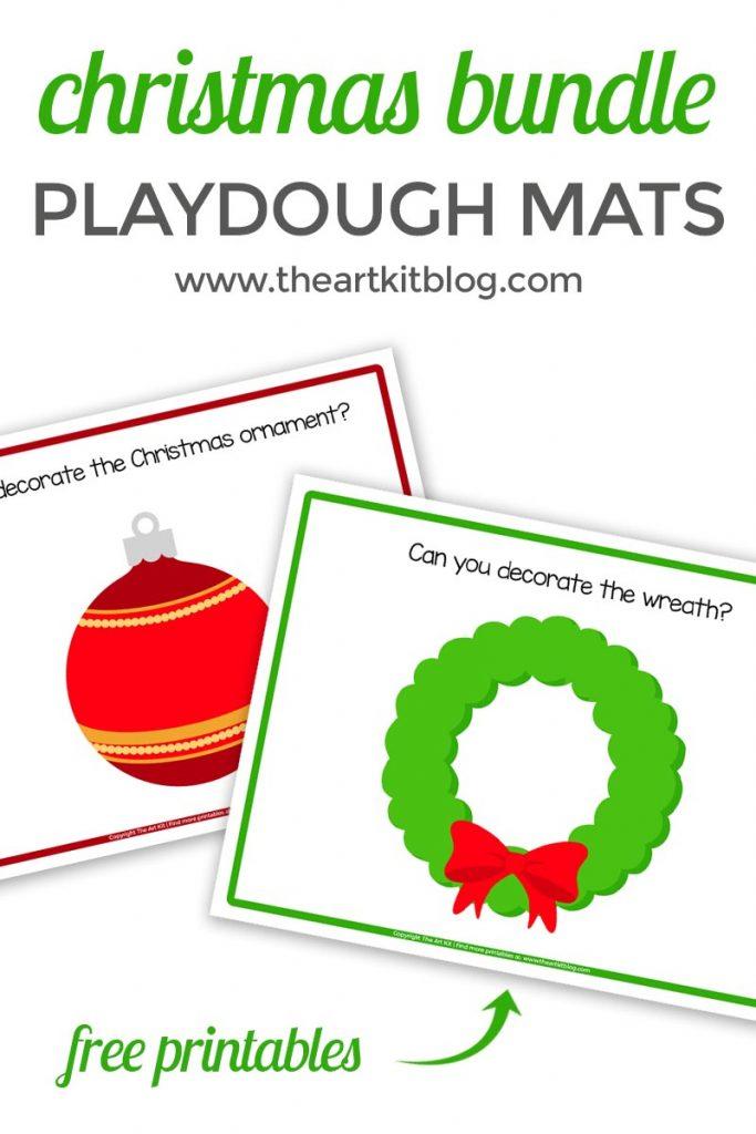 Christmas Playdough Mats {Free Printables} - The Art Kit