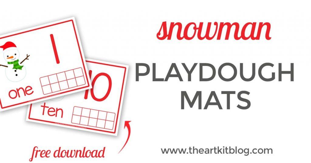 Snowman Playdough Mats {Free Printables} - The Art Kit