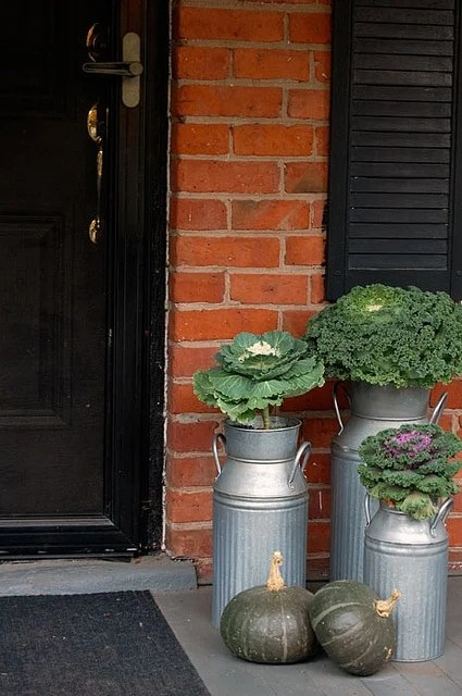 Porch Fall Planters