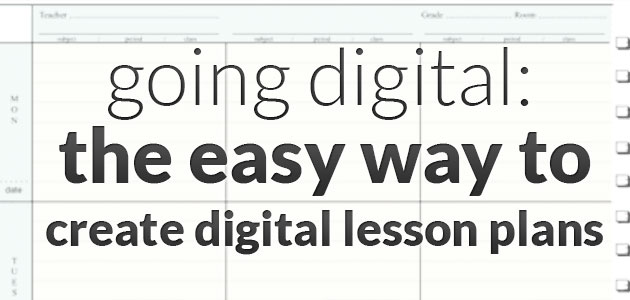 Going Digital The Easy Way to Create Digital Lesson Plans - The Art
