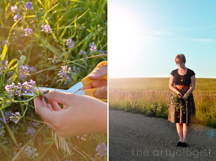 cutting flowers, a summer uniform, the artyologist