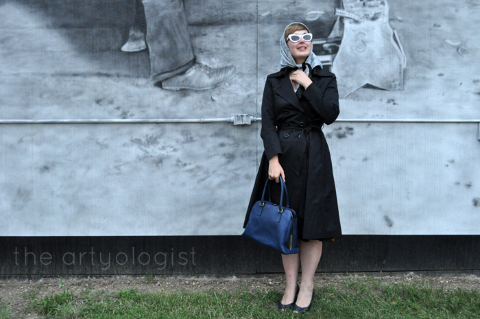 urban camouflage in my new hell bunny trench coat, the artyologist