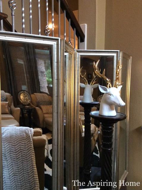 mirrored room divider