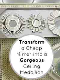 Transform a Cheap Wall Mirror into a Gorgeous Ceiling ...