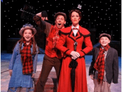 Michelle Moughan, Leo Ash Evens, Lauren Blackman and Brandon Singel in a scene from Mary Poppins (Photo credit: John Vecchiolla)