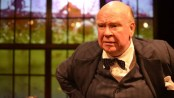 "Ronald Keaton as Winston Churchill in ""Churchill"" at New World Stages (Photo credit: Jason Epperson)"