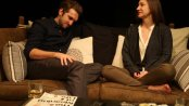 """Dylan Dawson and Darcy Fowler in as scene from """"Five Times in One Night"""" (Photo credit: Gerry Goodstein)"""