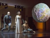 """Thomas Richards, Jennifer Zetlan and Abdiel Jacobsen a scene from the Gotham Chamber Opera's production of """"The Tempest Songbook"""" (Photo credit: Richard Termine)"""