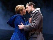"Kelli Barrett as Lara and Tam Mutu as Yurii in a scene from the Broadway musical ""Doctor Zhivago""(Photo credit: Matthew Murphy)"