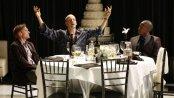 "Scott Parkinson, Peter Sarsgaard and Daniel Morgan Shelley in a scene from ""Hamlet"" (Photo credit: Carol Rosegg)"