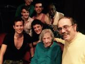 #10. Edith O'Hara with Chip Deffaa and cast members from Mad About the Boy