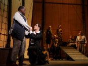 """Chuck Cooper, Josh Young and the Company of """"Amazing Grace"""" (Photo credit: Joan Marcus)"""
