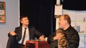 """John Carhart and Tony Marinelli in a scene from """"Be That Guy (A Cat and Two Men)""""(Photo credit: Ryan Rep Staff)"""