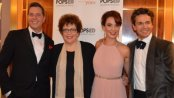 """Maestro Steven Reineke, Judith Clurman (Music Director, Essential Voices), soprano Sierra Boggess and baritone Julian Overden as they appeared in The New York Pops concert """"My Favorite Things: The Songs of Rodgers and Hammerstein"""" (October 9, 2015) (Photo credit: Maryann Lopinto)"""