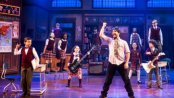 "Alex Brightman and the kids of ""School of Rock - The Musical"" (Photo credit: Matthew Murphy)"