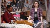 "Reggie D. White and Kayla Ferguson in a scene from Lauren Gunderson's ""I and You"" (Photo credit: Carol Rosegg)"