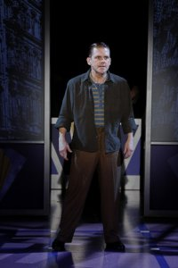 """Robert Creighton as the legendary James Cagney in a scene from """"Cagney,"""" the musical now at the Westside Theatre (Photo credit: Carol Rosegg)"""