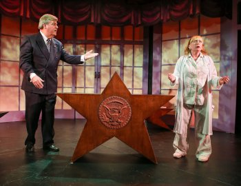 "Wayne Miller and Lisa Wright-Mathews in a scene from ""Votes"" (Photo credit: Ronald K. Glassman)"