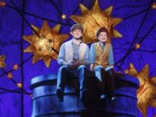 """Andrew Keenan-Bolger as Jesse Tuck and Sarah Charles Lewis as Winnie Foster in a scene from """"Tuck Everlasting"""" (Photo credit: Joan Marcus)"""