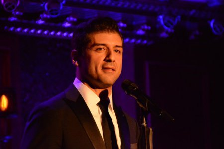 Tony Yazbeck as he appeared in New York Pops Underground at Feinstein's/54 Below on September 19, 2016 (Photo credit: Genevieve Keddy)