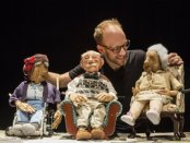 "Spencer Lott with puppets from ""Blossom"" (Photo credit: Maria Baranova)"