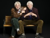 """Nick Kroll and John Mulaney in a scene from """"Oh, Hello on Broadway""""(Photo credit: Peter Yang)"""