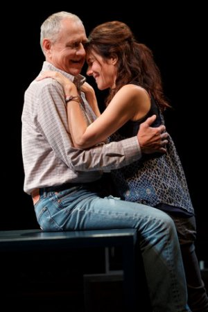 """Denis Arndt and Mary-Louise Parker in a scene from """"Heisenberg"""" (Photo credit: Joan Marcus)"""