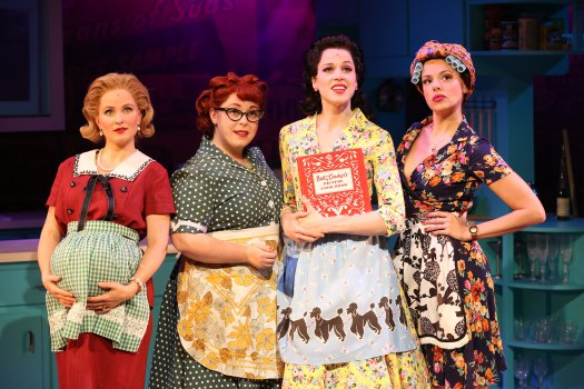 "Autumn Hurlbert, Allison Guinn, Paige Faure and Janet Dacal in ""A Taste of Things to Come"" (Photo credit: Carol Rosegg)"