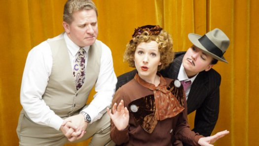 "Timothy J. Cox, Meg Mark and Melissa Firlit in a scene from ""The Big Uncut Flick"" (Photo credit: Jamie Cox)"