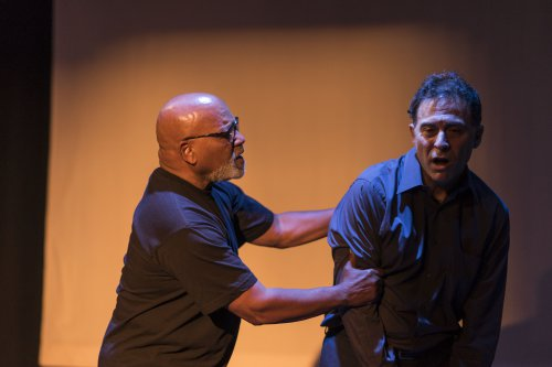 "Fred Johnson and David Deblinger in a scene from ""Lucky Penny"" (Photo credit: Zachary Zirlin Photography)"