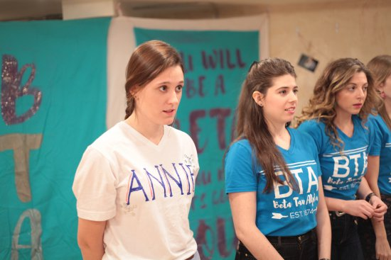 "Julia Greer, Shelby Green and Alex Najarian in a scene from ""For Annie"" (Photo credit: Gracie Gardner)"