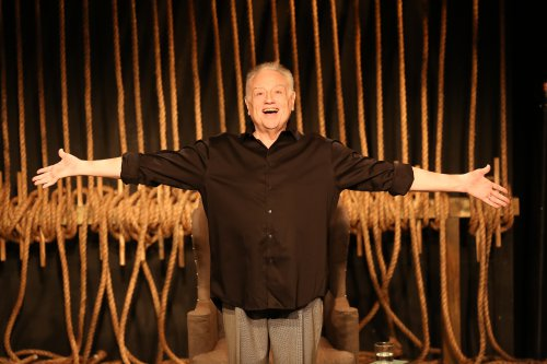 "Ed Dixon in a scene from ""Georgie: My Adventures with George Rose"" (Photo credit: Carol Rosegg)"