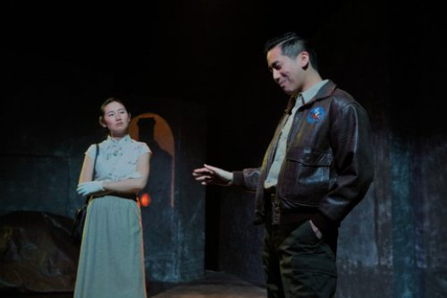 "Ying Ying Li and Tim Liu in a scene from ""Incident at the Hidden Temple"" (Photo credit: John Quincy)"