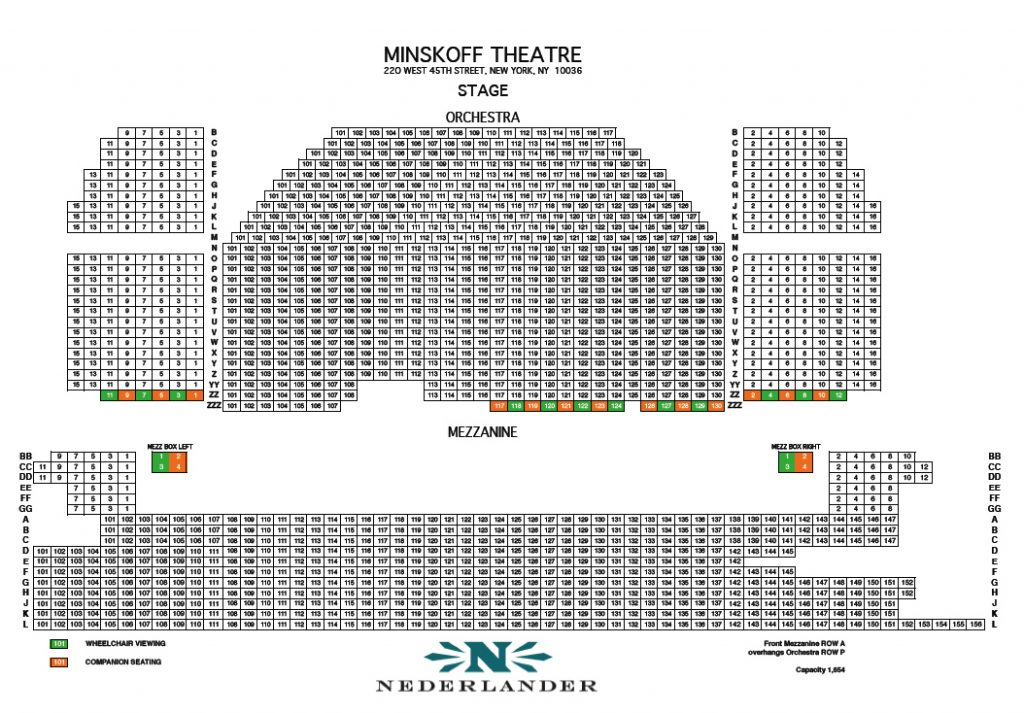Minskoff Theatre - Seating Chart and Access Information