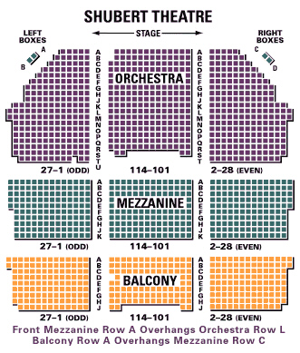 Shubert Theatre - Seating Chart and access Information