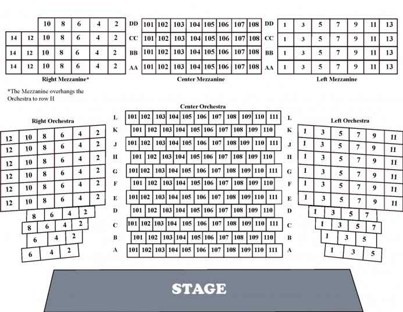 Riverside Theater Seating Chart Two Birds Home