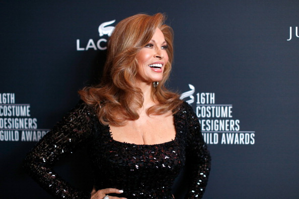 BEVERLY HILLS, CA - FEBRUARY 22: Actress Raquel Welch attends the 16th Costume Designers Guild Awards with presenting sponsor Lacoste at The Beverly Hilton Hotel on February 22, 2014 in Beverly Hills, California. (Photo by Christopher Polk/Getty Images for CDG)