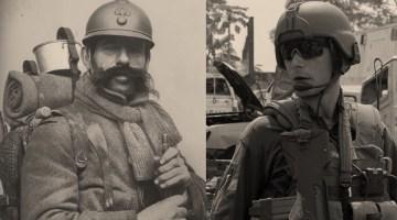 Poilu soldat actuel