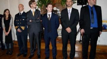 De gauche à droite : Julie le Gac, Per Endling, Arnaud Guinier, Laurent Borzillo, Christophe Lafaye et Mathieu Gotteland. Crédit : C. Lafaye.